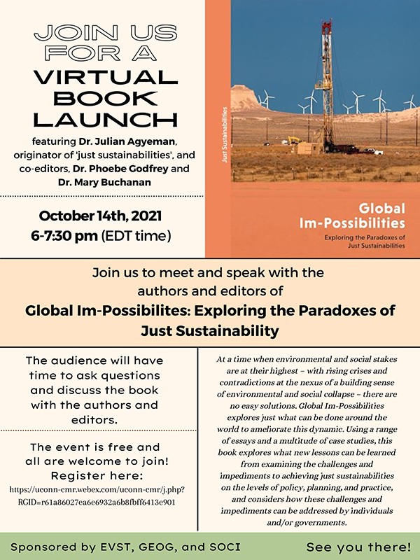 Flyer for virtual book launch